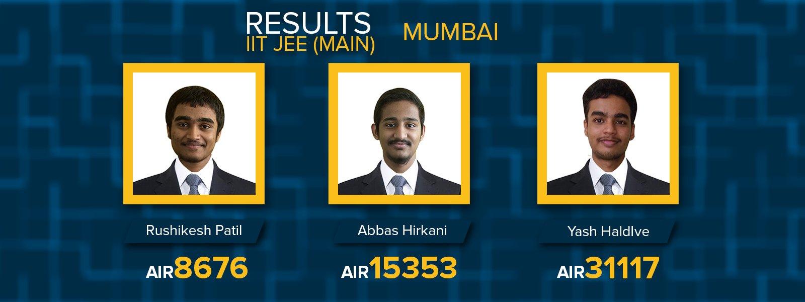 Mumbai IIT JEE MAIN 2017 results