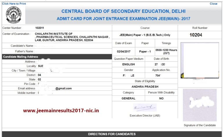 jee main admit card hall ticket download instructions and more