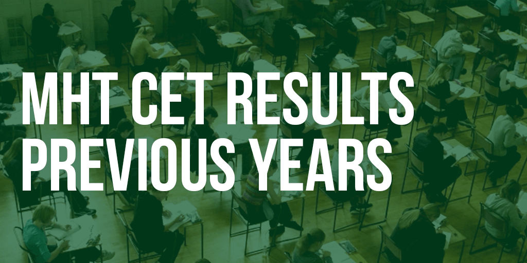 MHT CET results previous years