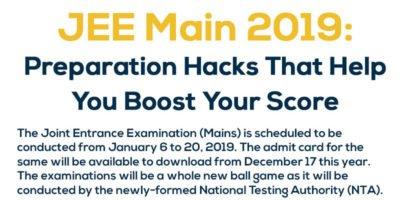 JEE Main 2019, JEE Main, JEE Main Preparation Tips