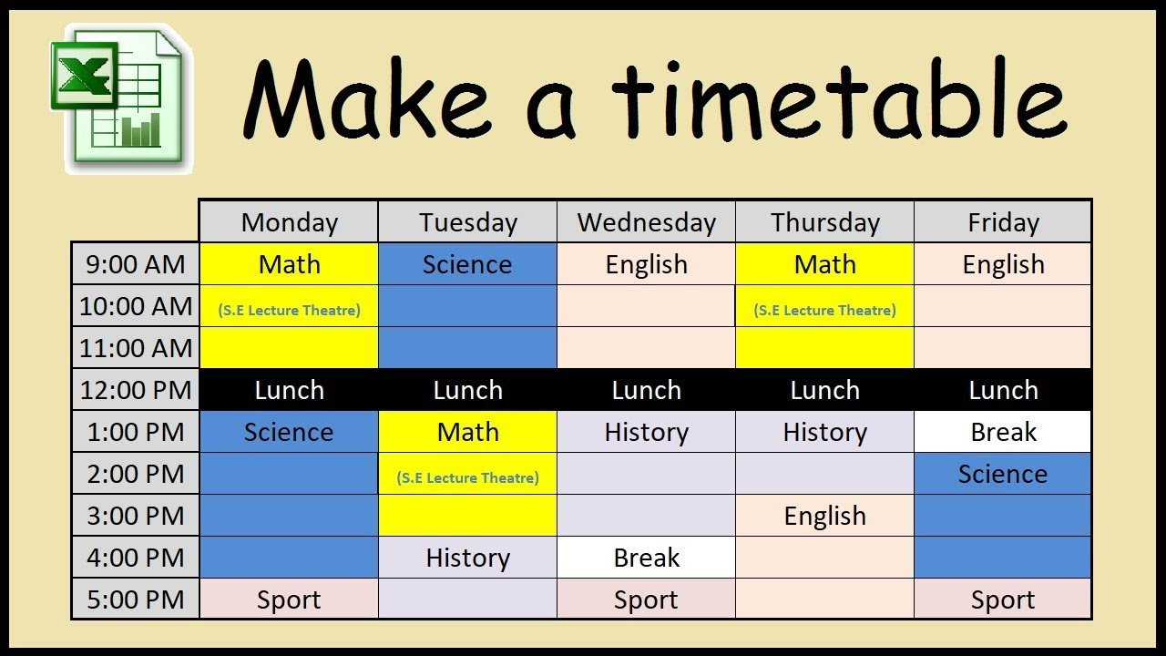 How to manage your time | Learn to make a study time table