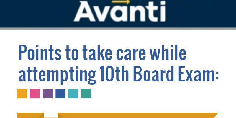 POINTS TO TAKE CARE WHILE ATTEMPTING 10th BOARD EXAM